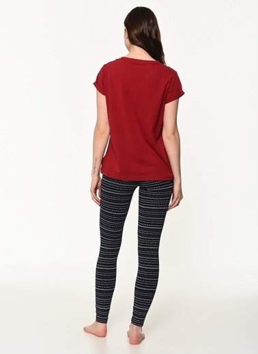 Tommy Hilfiger Kadın Set Ss Faırısle Leggın Pijama Takım UW0UW01350 Renkli